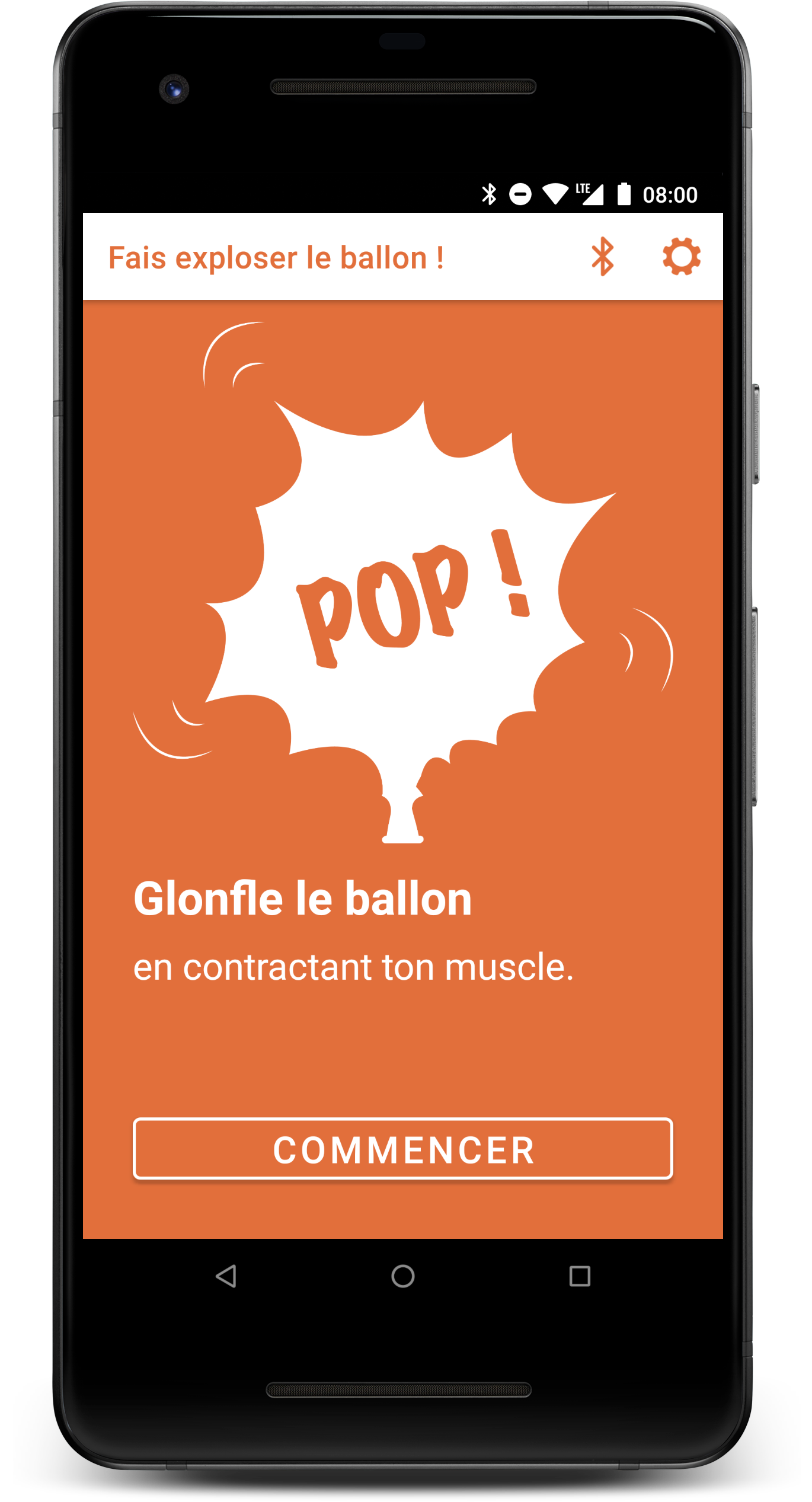 The ballon game in the Android app