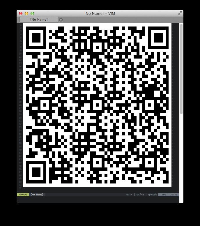 screenshot for vim-qrcode