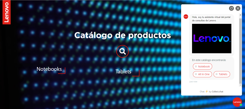Catalogo de productos para la empresa Lenovo