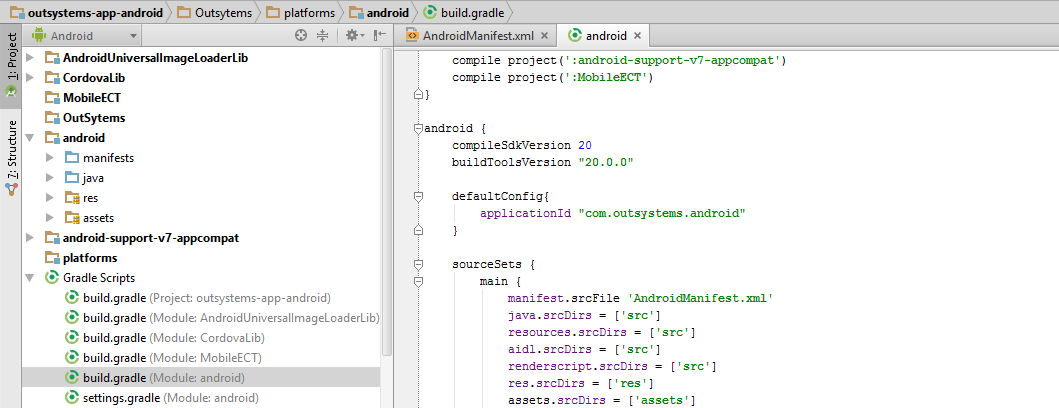 Update application id on build.gradle