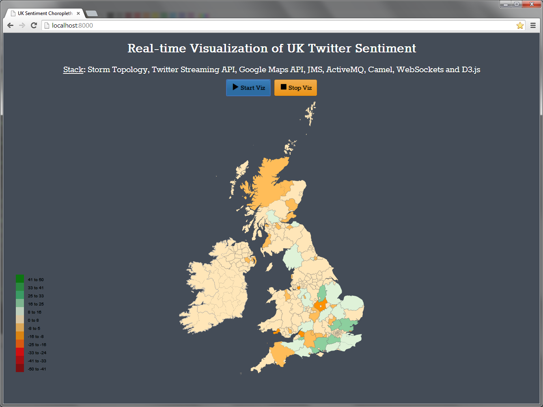 Screenshot of D3 Visualization