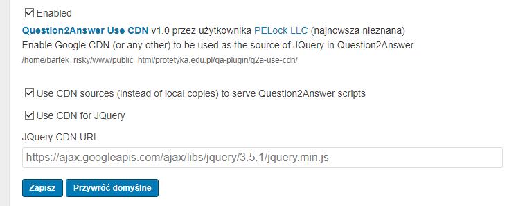 Question2Answer Use CDN Plugin
