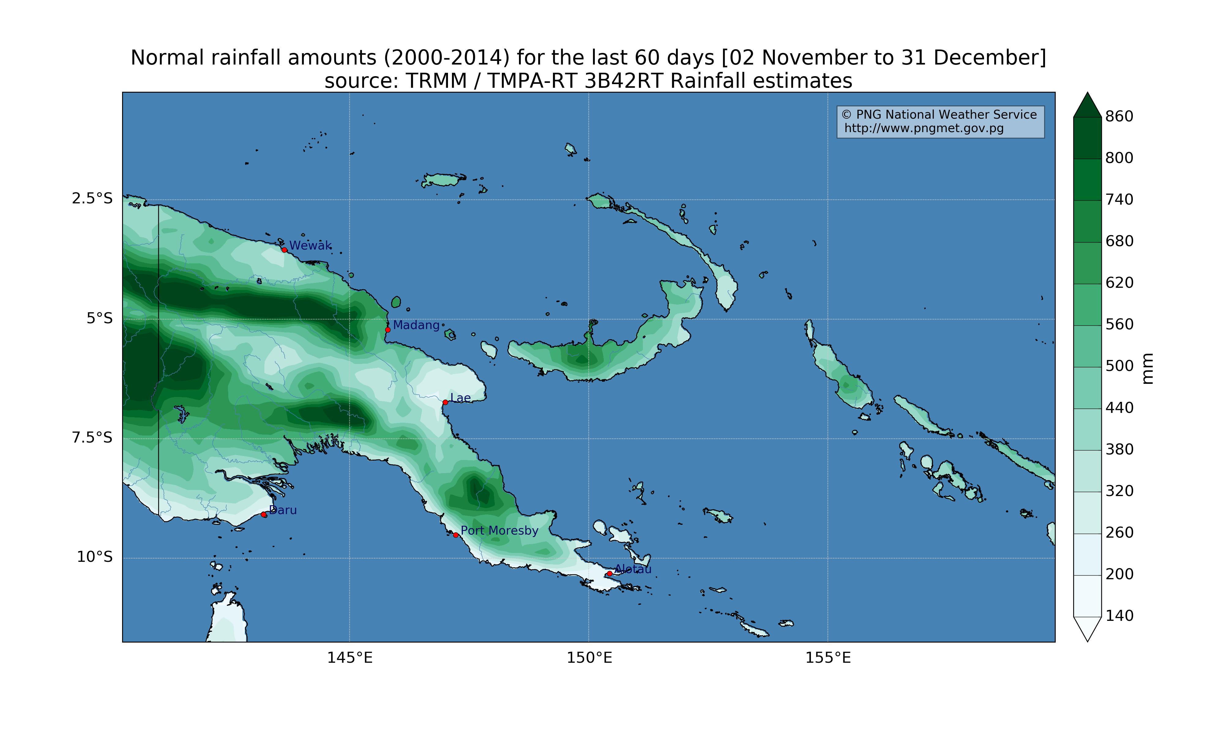 climatology (2000 - 2014 average) for the last 60 days