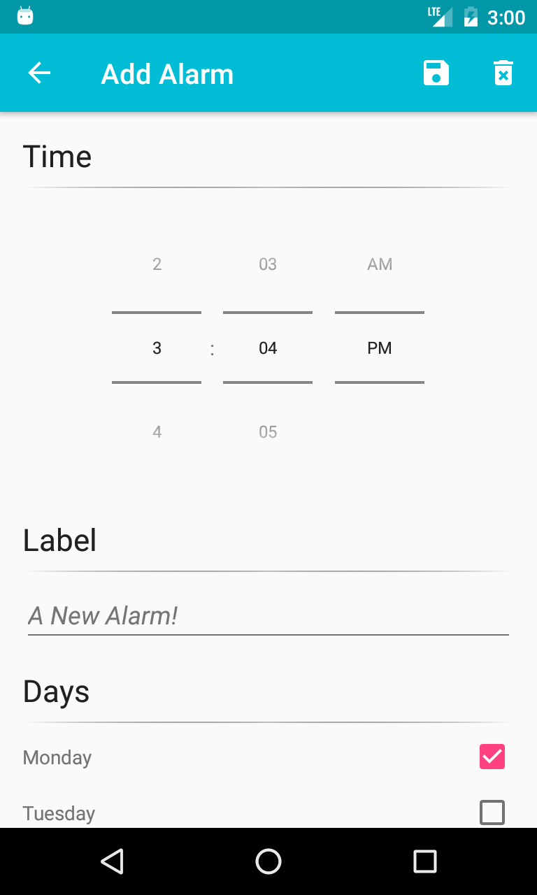 Alarm Notification Android
