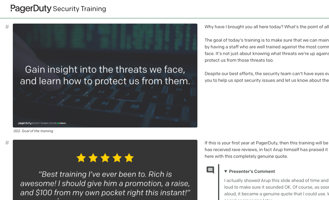 PagerDuty Security Training