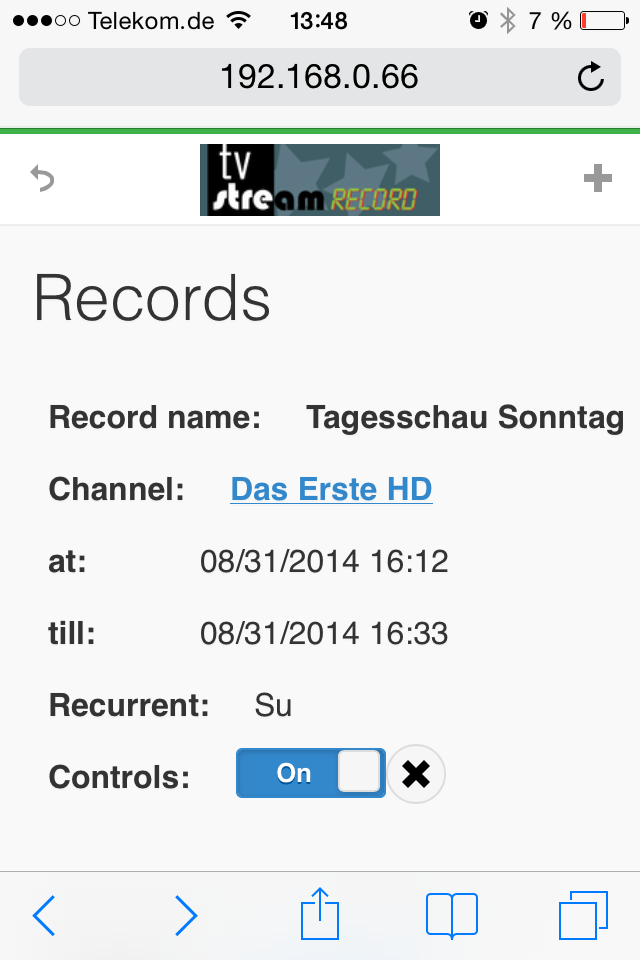 tvstreamrecord mobile view