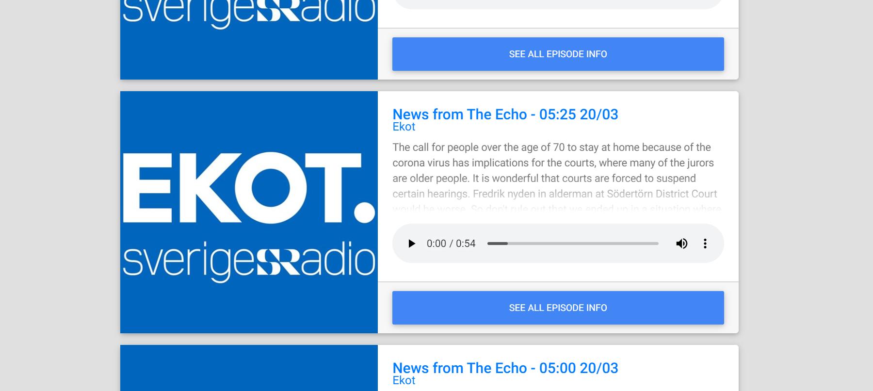 RadioText.net - Screenshot of list