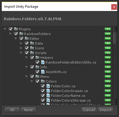 GitHub - PhannGor/unity3d-rainbow-folders: This asset allows