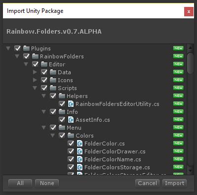 GitHub - PhannGor/unity3d-rainbow-folders: This asset allows you to