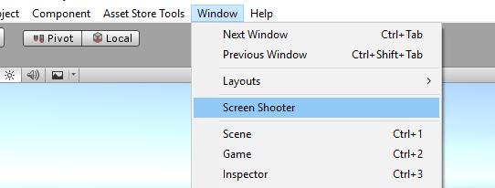 Screenshooter menu