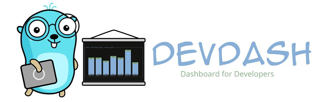 logo of devdash with a gopher
