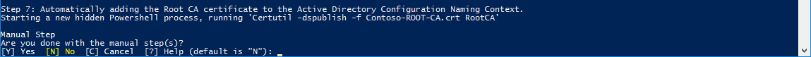 Add Root CA to Active Directory