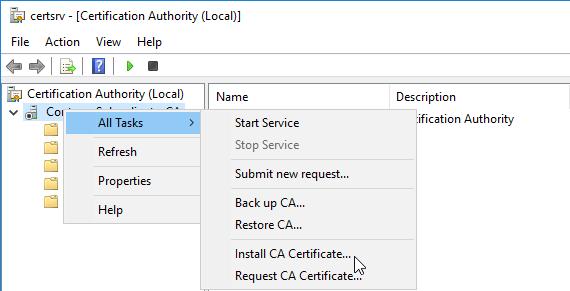 Install CA Certificate