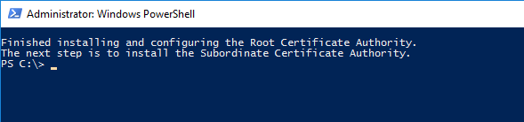 Root CA Installation fininshed