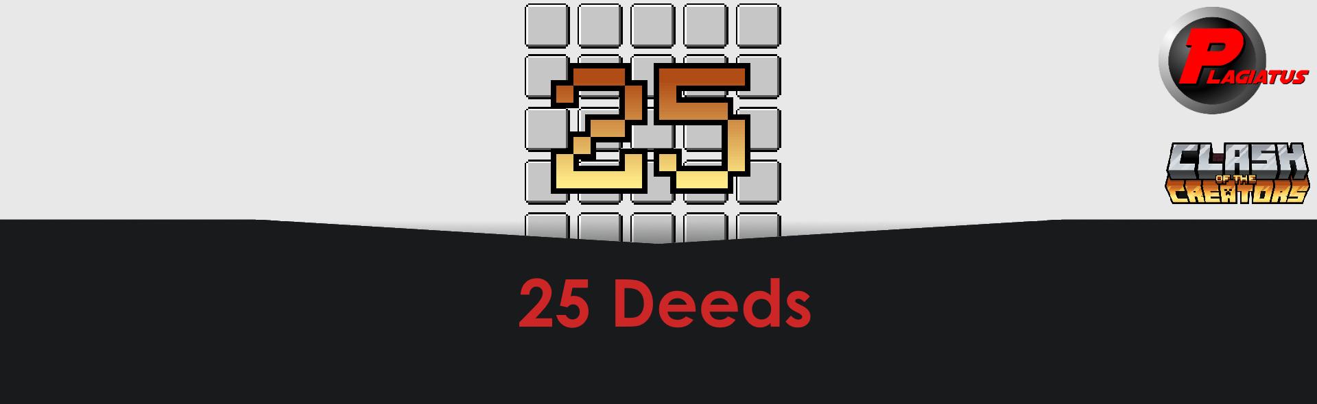 25 deeds Banner
