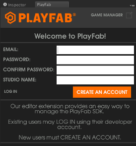 PlayFab Developer Login