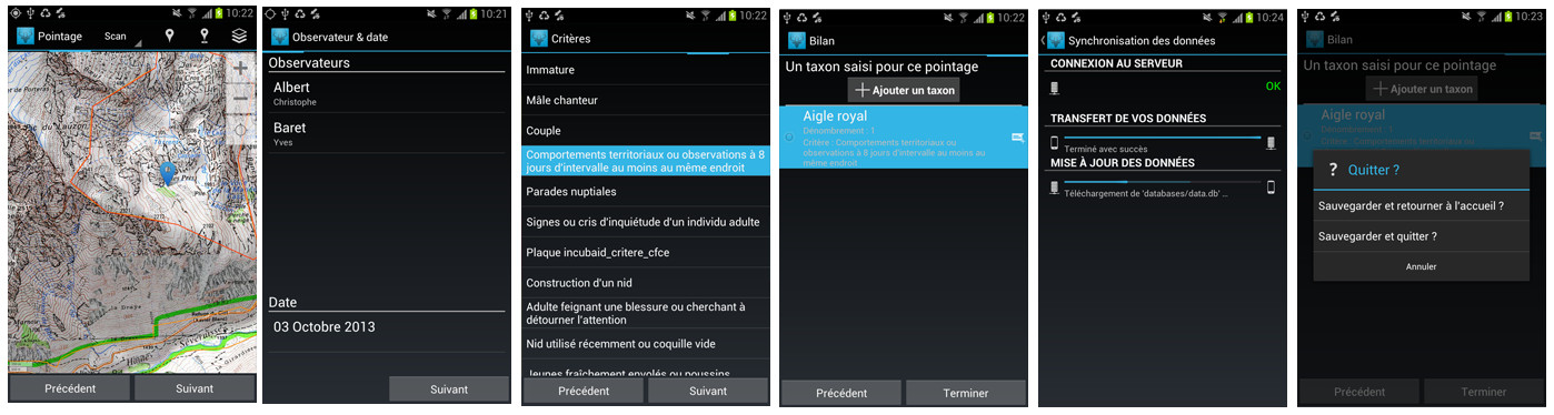 GeoNature-mobile screenshot 3