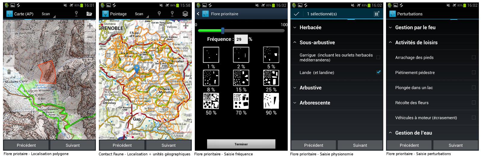 GeoNature-mobile screenshot 2