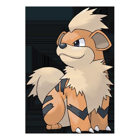 Pokémon growlithe
