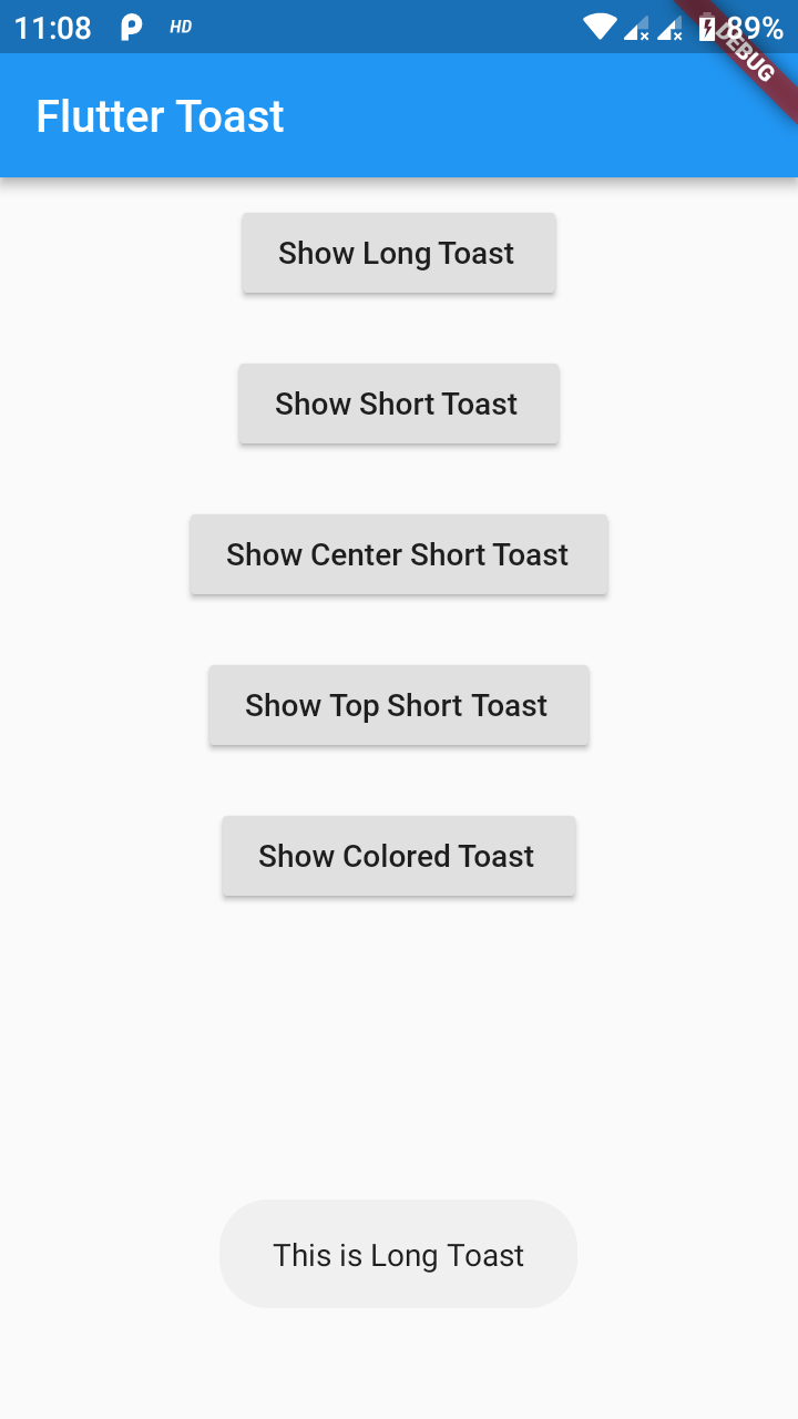 fluttertoast | Flutter Package