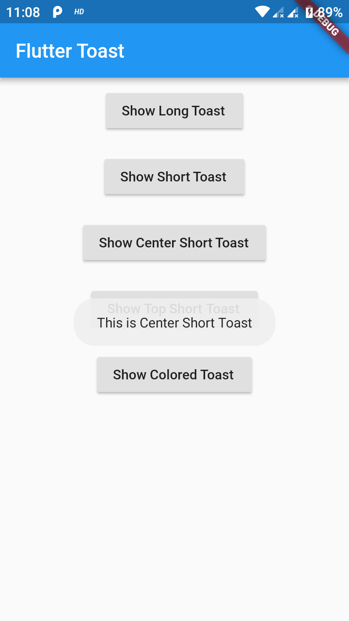 Toast Flutter