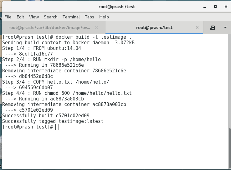 Docker layers during Build