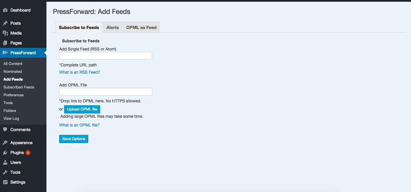 Adding Feeds
