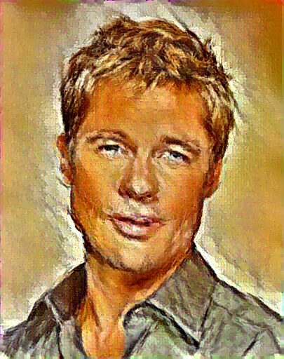 cuDNN NIN Model Picasso Brad Pitt