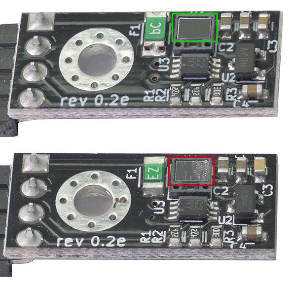 clean VS dirty sensor