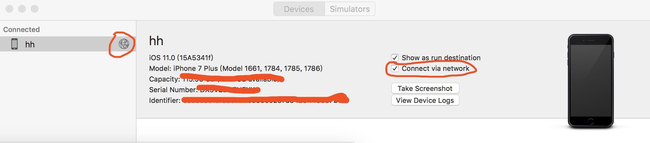 iOS无线调试