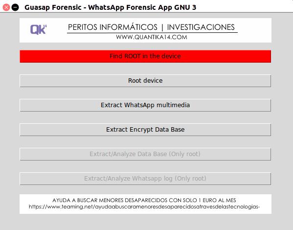 Guasap Forensic, una herramienta desarrollada en Python para realizar análisis forense a #WhatsApp. Guasap
