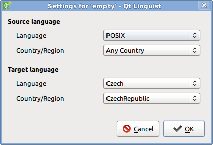 Qt Linguist: Setting language