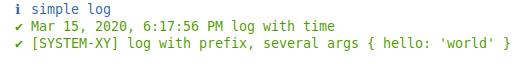 log-simple example