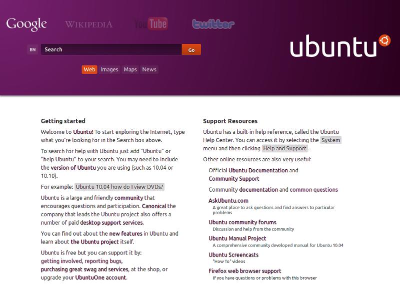 v0.1 Ubuntu Homepage