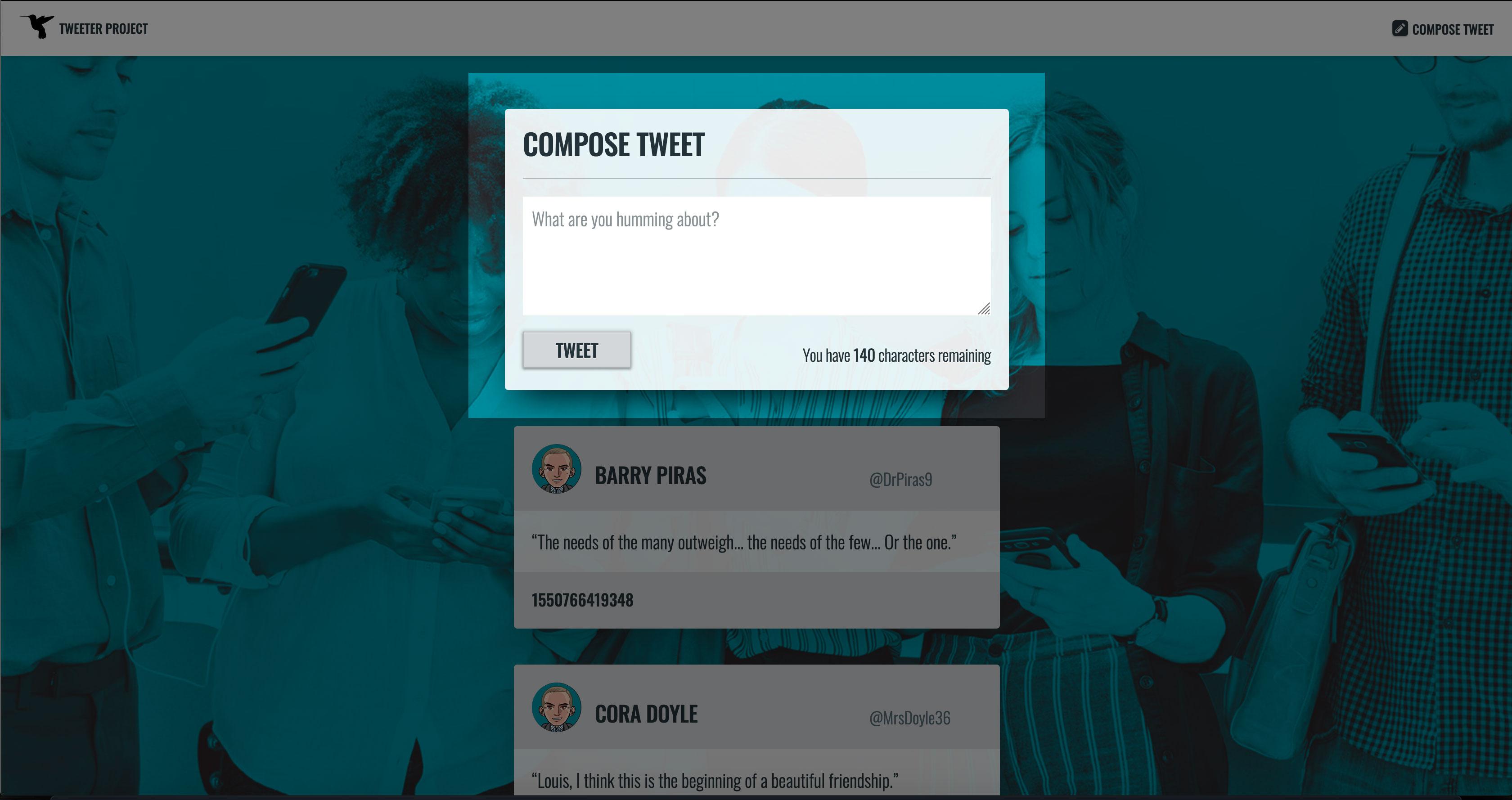 New Tweet, Web Form on Hover: Textarea on Focus