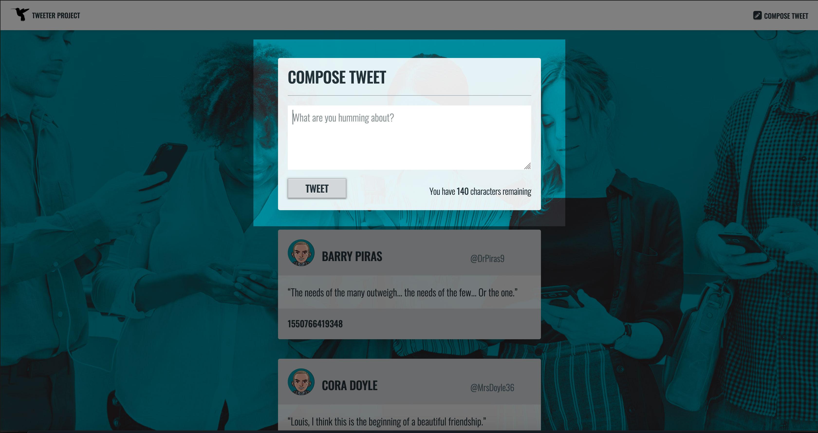 New Tweet, Web Form: Textarea on Focus