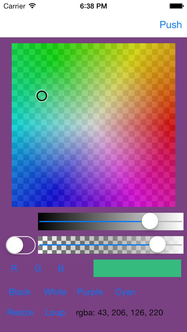 Color Picker - Opacity