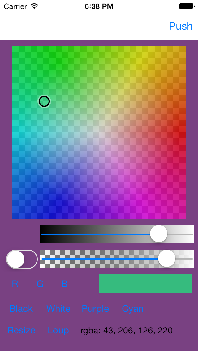 Color Picker - Opacity