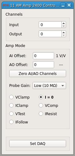 AM Amp 2400 Controller GUI