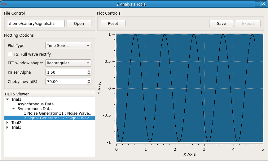 Analysis Tools GUI