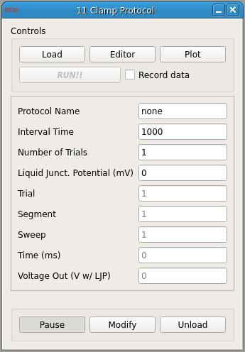 Clamp Protocol GUI
