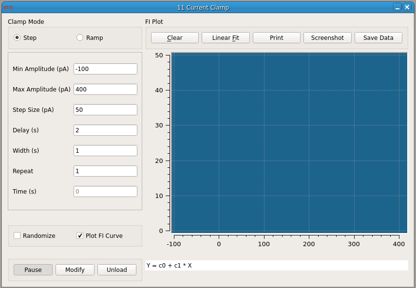 Current Clamp GUI