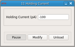 Current Hold GUI