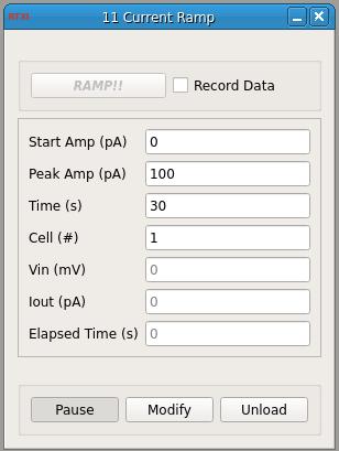 Current Ramp GUI