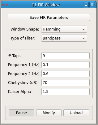 FIR Window GUI