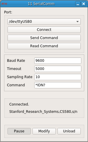 Serial Communication GUI