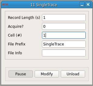 Single Trace GUI