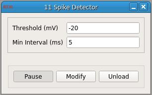 Spike Detector GUI