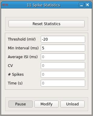 Spike Statistics GUI