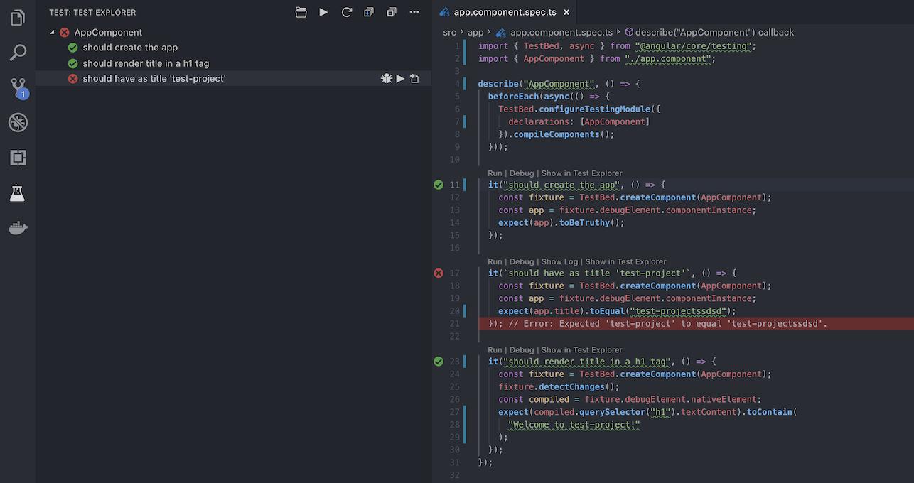 Example run tests